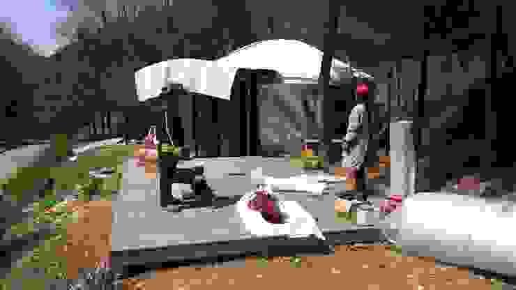방염원단 지붕 씌우기 by 솔롱고스캠프
