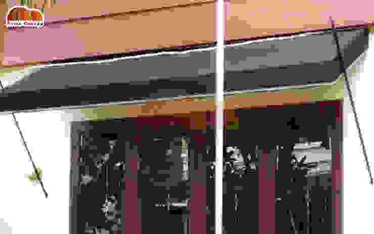 Canopy Kain Tombak Oleh Putra Canopy Klasik Tekstil Amber/Gold