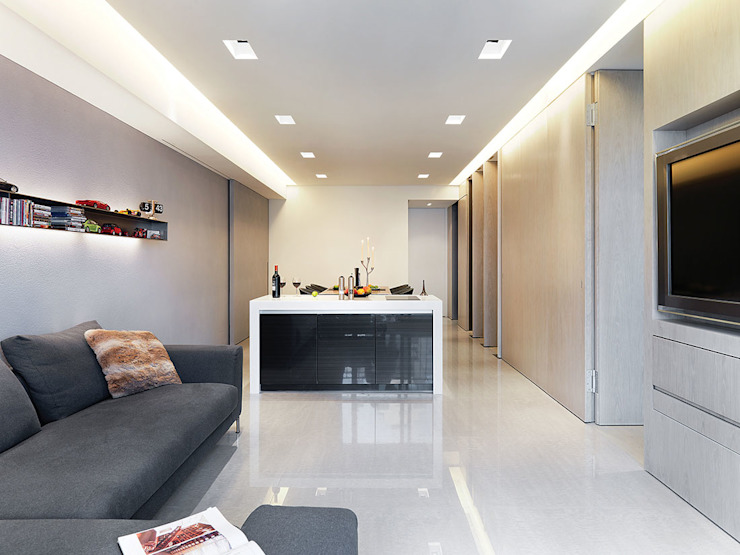 Sanxia Chen's House 现代客厅設計點子、靈感 & 圖片 根據 沈志忠聯合設計 現代風