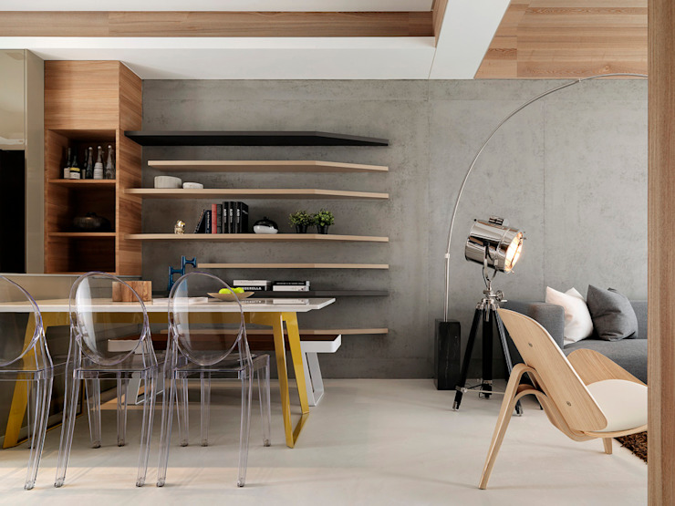 Modern Dining Room by 白金里居 空間設計 Modern
