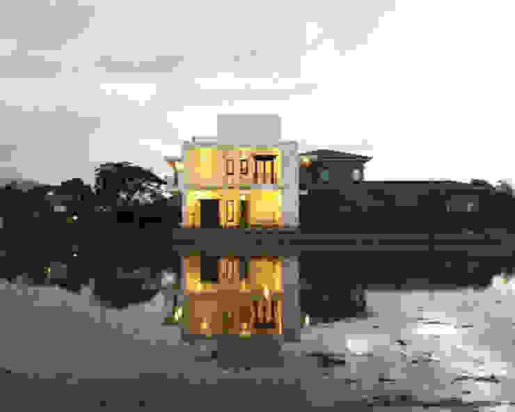 讓建築跟環境談話 現代房屋設計點子、靈感 & 圖片 根據 賴人碩建築師事務所 現代風 水泥