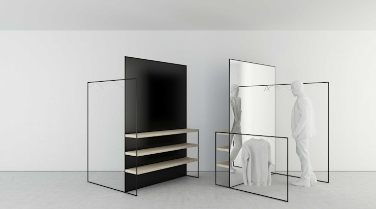 t design Dressing roomMirrors Metal Black