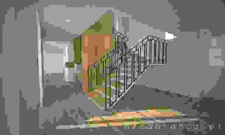 Hall Entrada e Escadas Corredores, halls e escadas modernos por Areabranca Moderno