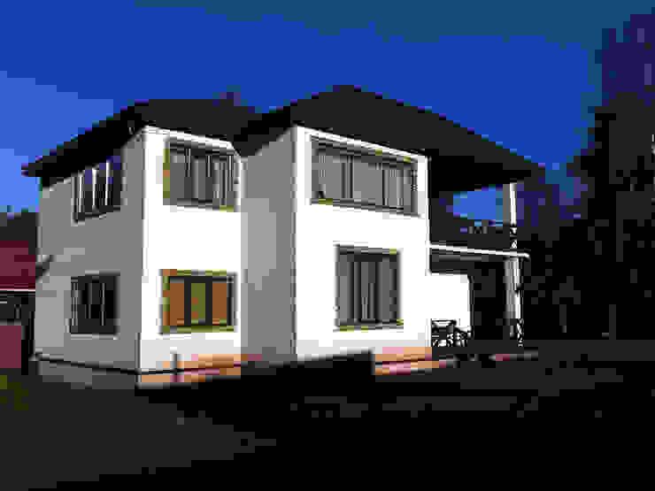 Техно-сруб Minimalist houses