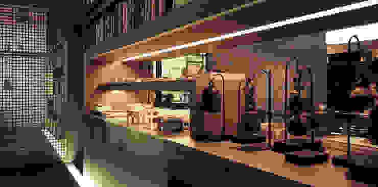 辦公室 根據 鼎爵室內裝修設計工程有限公司 簡約風 合板