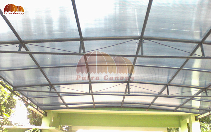 Canopy Polycarbonate:modern  oleh Putra Canopy, Modern Bahan Sintetis Brown