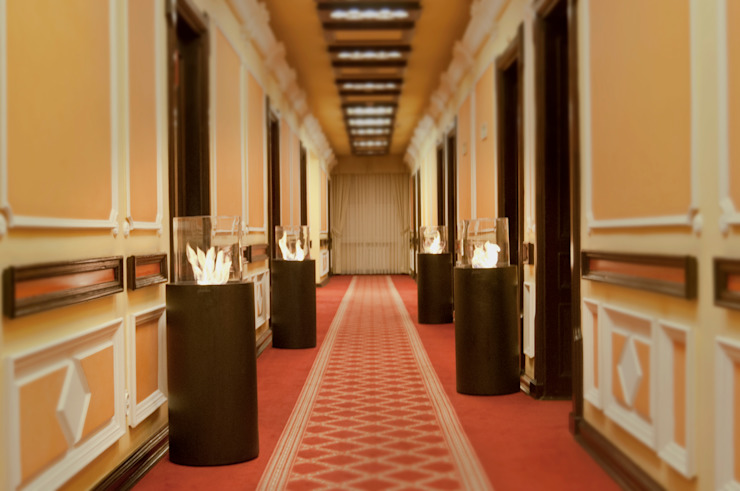 Clearfire - Lareiras Etanol Modern corridor, hallway & stairs