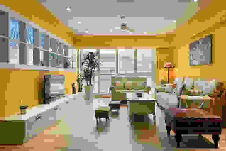 Living room by Glocal Architecture Office (G.A.O) 吳宗憲建築師事務所/安藤國際室內裝修工程有限公司