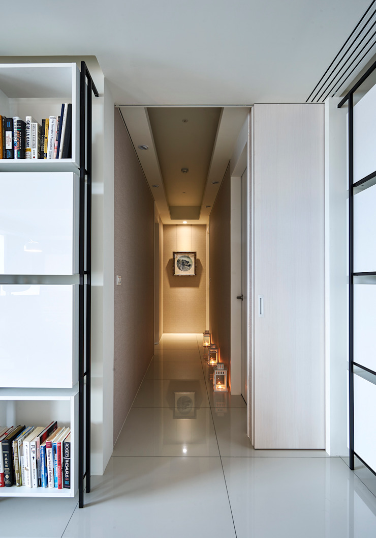 Minimalist corridor, hallway & stairs by Glocal Architecture Office (G.A.O) 吳宗憲建築師事務所/安藤國際室內裝修工程有限公司 Minimalist