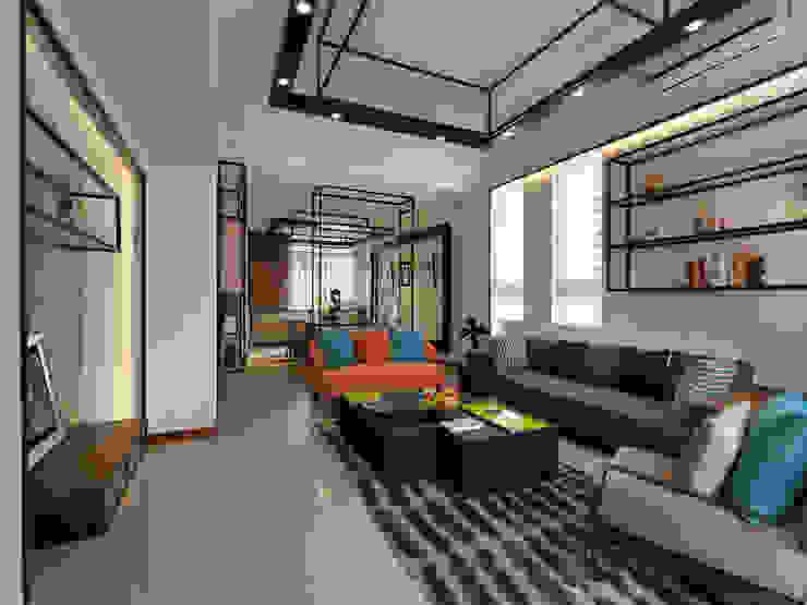 家 是生活的容器 Home: The retainer of life 现代客厅設計點子、靈感 & 圖片 根據 Glocal Architecture Office (G.A.O) 吳宗憲建築師事務所/安藤國際室內裝修工程有限公司 現代風