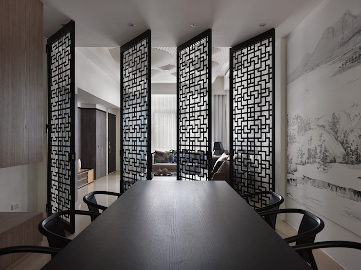 Dining room by Glocal Architecture Office (G.A.O) 吳宗憲建築師事務所/安藤國際室內裝修工程有限公司, Asian
