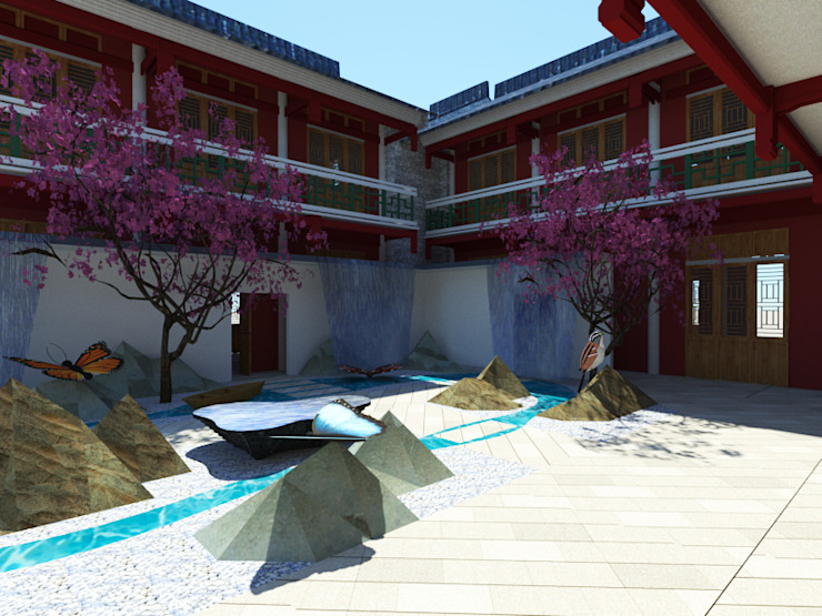 張家界酒店 根據 Glocal Architecture Office (G.A.O) 吳宗憲建築師事務所/安藤國際室內裝修工程有限公司 日式風、東方風