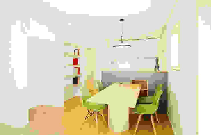 現代廚房設計點子、靈感&圖片 根據 소하 건축사사무소 SoHAA 現代風