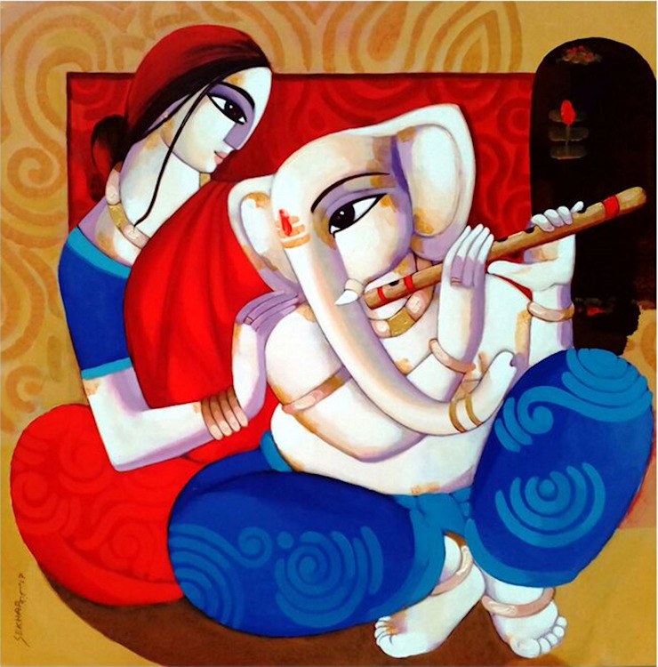 """Ganesh Janani"": asian  by Indian Art Ideas,Asian"