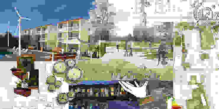 Condominio Casas de estilo mediterráneo de Arquitectura Consciente Mediterráneo Concreto