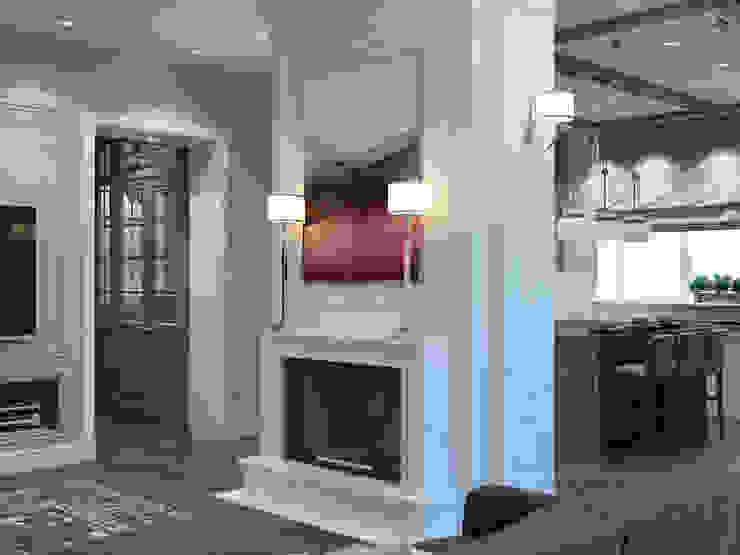 homify Living room White