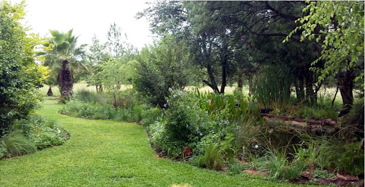 Large country Garden Country style garden by Young Landscape Design Studio Country