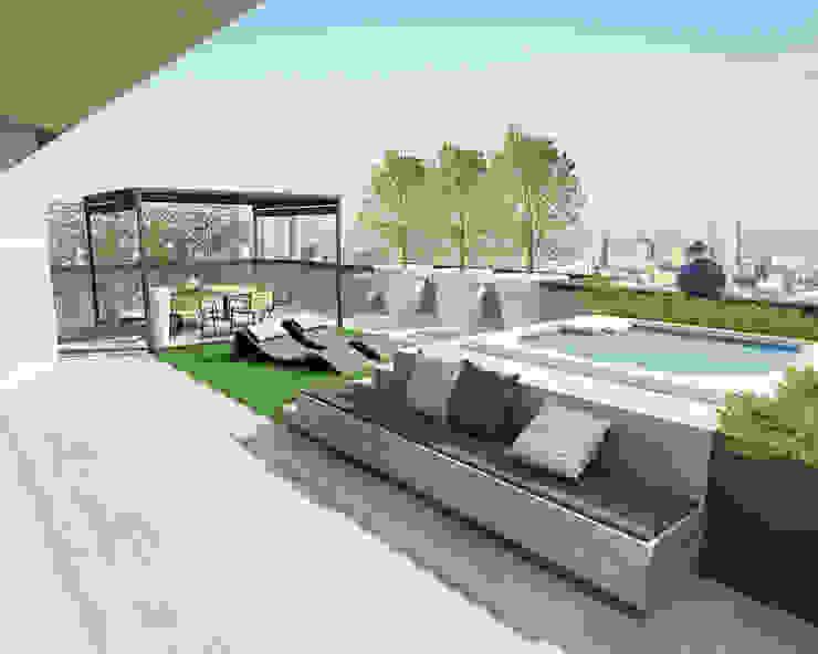 Ristrutturazione appartamento Desio (in corso) Cappelletti Architetti Balcone, Veranda & Terrazza in stile moderno