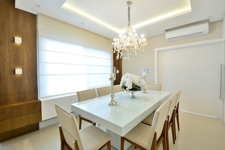 ANDRÉ PACHECO ARQUITETURA Modern Dining Room Wood White