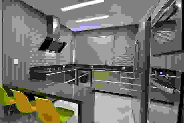 ANDRÉ PACHECO ARQUITETURA Modern Kitchen Ceramic Grey