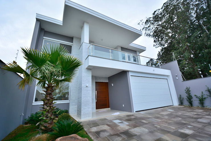 ANDRÉ PACHECO ARQUITETURA Modern Houses Marble Grey