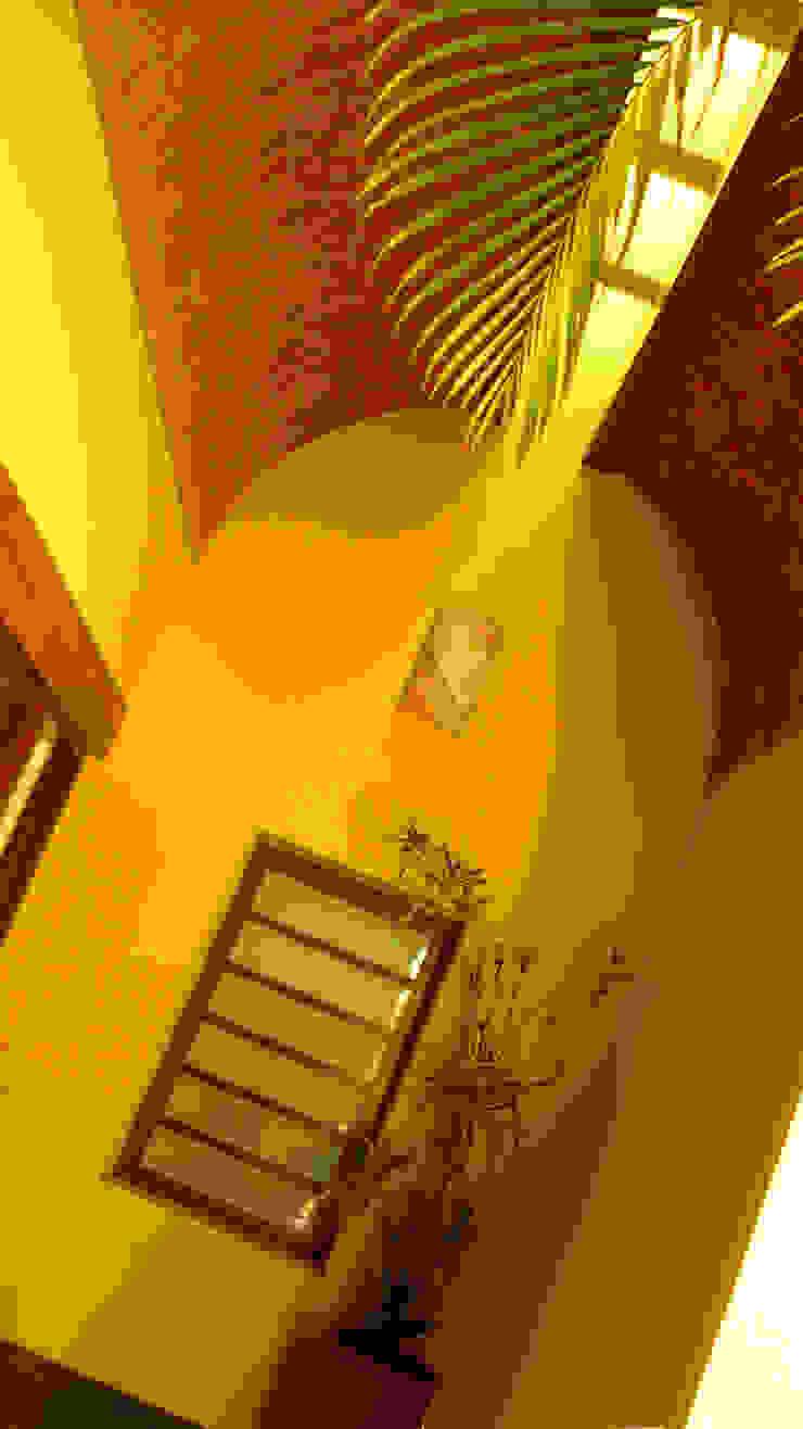 Taller A3 SC Modern corridor, hallway & stairs Stone Yellow
