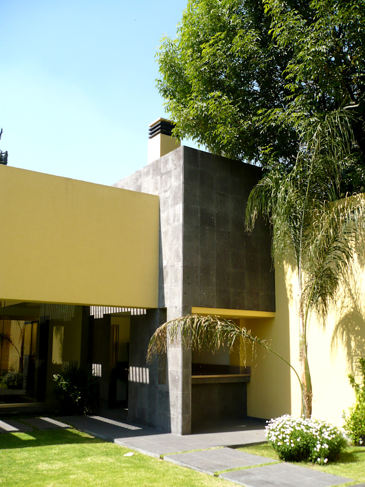 Taller A3 SC Modern balcony, veranda & terrace Stone Yellow
