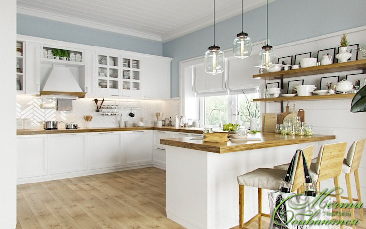 Европейская весна Компания архитекторов Латышевых 'Мечты сбываются' Кухня в стиле модерн