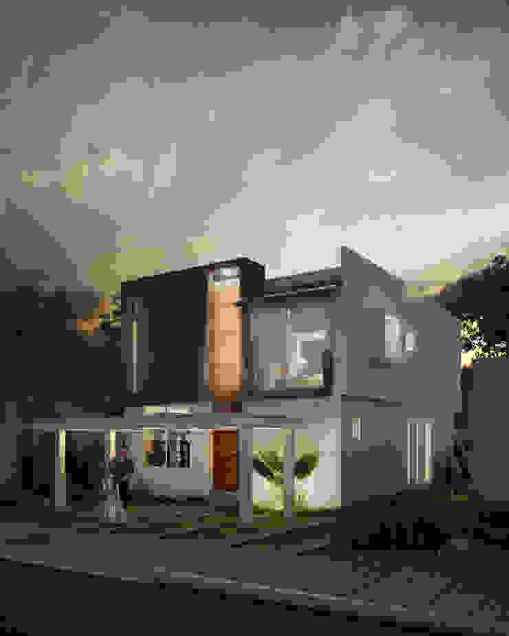 CASA ALONDRA 33 Minimalist house by ARQMA Arquitectura & Diseño Minimalist Concrete
