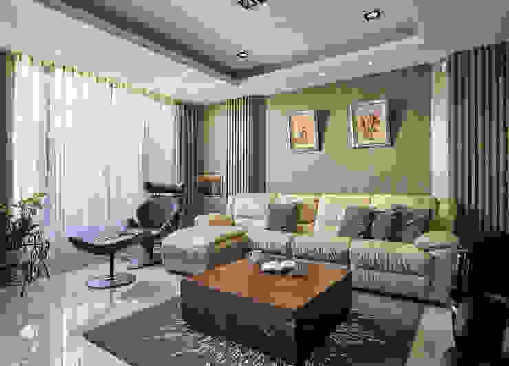 Ruang Keluarga Klasik Oleh 世家新室內裝修公司 Klasik