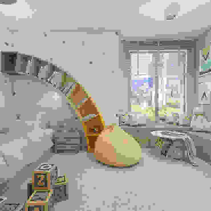 Cuartos infantiles de estilo  por UTOO-Pracownia Architektury Wnętrz i Krajobrazu