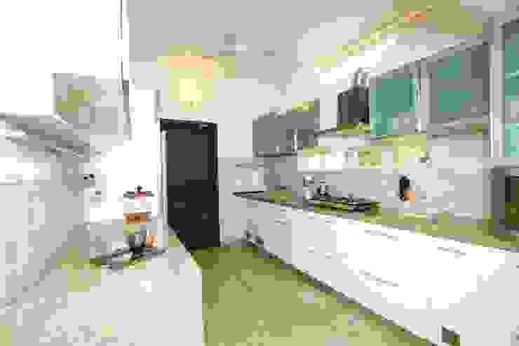 Modern Minimal parallel kitchen Minimalist kitchen by homify Minimalist Plywood