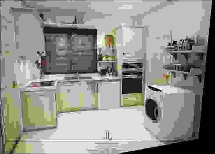 ภาพ 3มิติ ห้องครัว : 3D Perspective Kitchenroom โดย homify ผสมผสาน