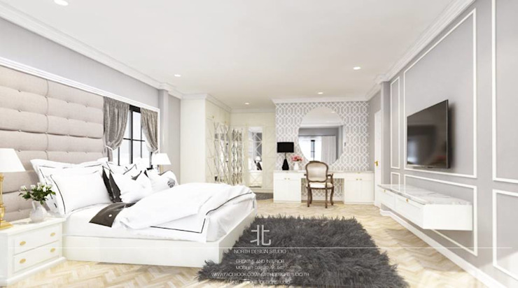 Phòng ngủ phong cách chiết trung bởi homify Chiết trung