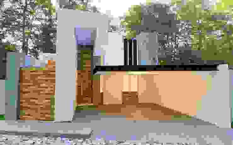 現代房屋設計點子、靈感 & 圖片 根據 Alan Rangel Arquitecto 現代風 水泥