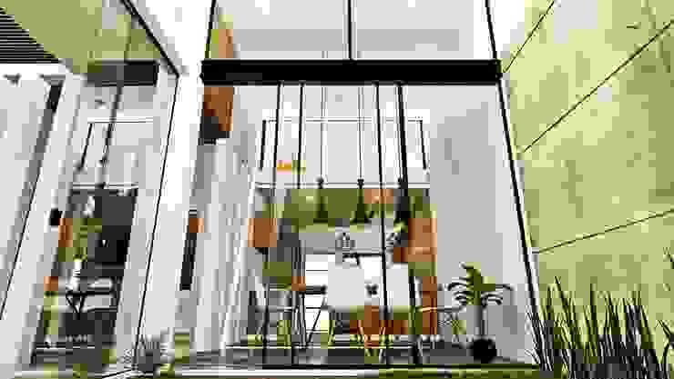 根據 Alan Rangel Arquitecto 簡約風 木頭 Wood effect