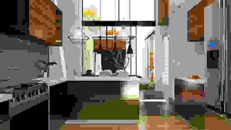 現代廚房設計點子、靈感&圖片 根據 Alan Rangel Arquitecto 現代風