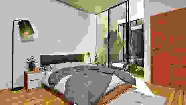 根據 Alan Rangel Arquitecto 現代風 木頭 Wood effect