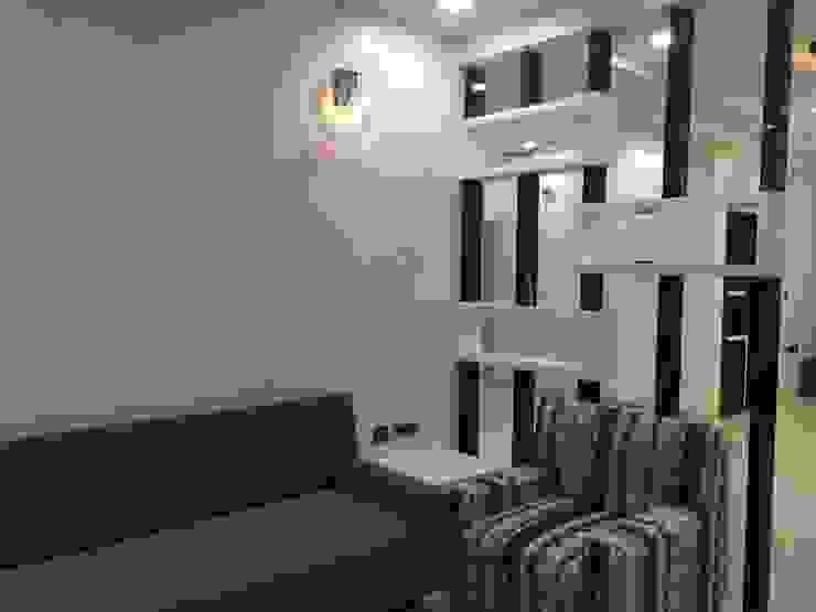 Living Room Partition Nabh Design & Associates Minimalist living room