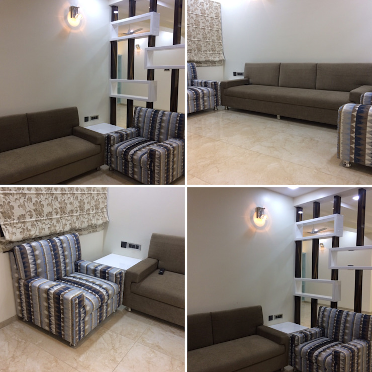 Residence Interior Design Nabh Design & Associates Minimalist living room