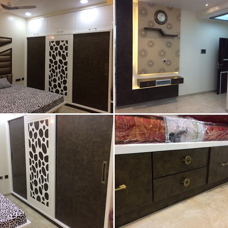 Residence Interior Design Nabh Design & Associates Minimalist bedroom