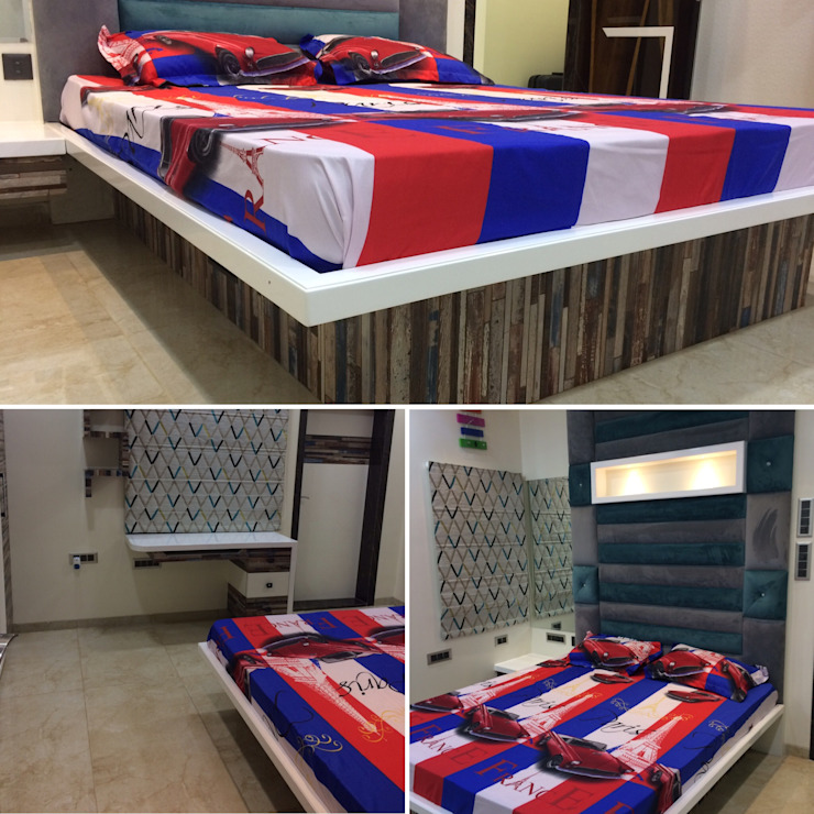 Bedroom Nabh Design & Associates Minimalist bedroom