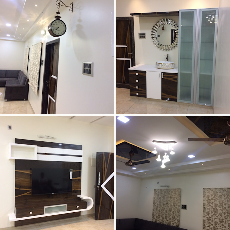 Residence Interior Design Nabh Design & Associates Minimalist dining room