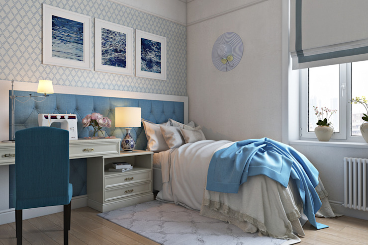 غرفة نوم تنفيذ Дарья Баранович Дизайн Интерьера