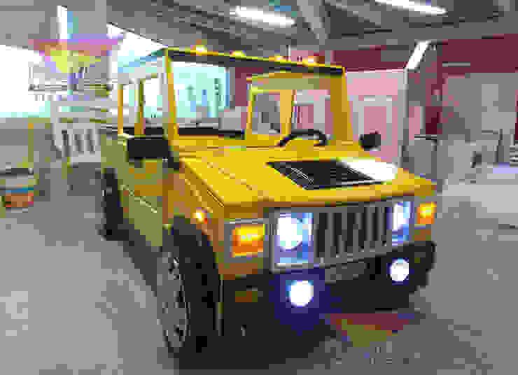 Impresionante cama estilo Hummer de Kids Wolrd- Recamaras Literas y Muebles para niños Moderno Derivados de madera Transparente