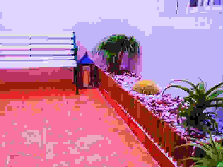 Habilitación de jardineras Jardines de estilo mediterráneo de homify Mediterráneo Bambú Verde