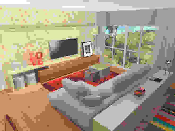 Living and Dining in Ipanema (Brazil) Moderne woonkamers van Studio Baoba Modern