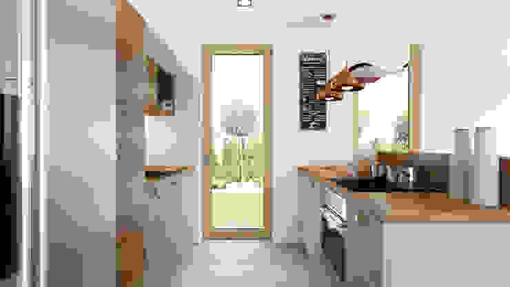 現代廚房設計點子、靈感&圖片 根據 APP Proste Wnętrze Maria Podobińska-Tuleja 現代風