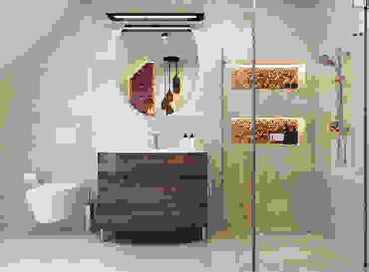 Bathroom by APP Proste Wnętrze Maria Podobińska-Tuleja
