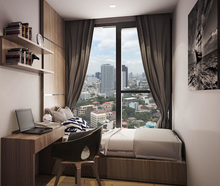 LPN 24  condominium interior:  ตกแต่งภายใน by  good space  plus interiror- architect co.,ltd